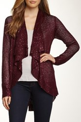 Dolce Cabo Sparkle Cardigan Red
