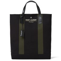 Saint Laurent Beach Shopping Tote Bag Black