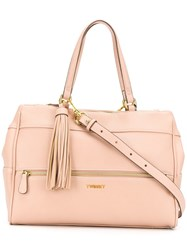 Twin Set Top Zipped Tote Pink