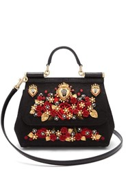 Dolce And Gabbana Sicily Ayers And Brocade Cross Body Bag Black Multi