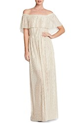 Dress The Population Women's Athena Maxi Ivory Gold