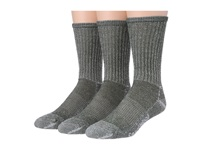 Smartwool Hike Light Crew 3 Pack Loden Men's Quarter Length Socks Shoes Green