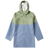 Stutterheim Stockholm Blocked Raincoat Blue