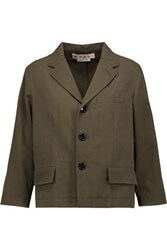 Marni Cotton Canvas Jacket Army Green