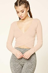Forever 21 Active Cropped Surplice Top