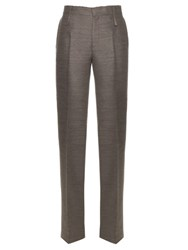 Calvin Klein Havino Wool And Silk Blend Trousers Grey