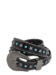 B Low The Belt 25Mm Stars And Studs Leather
