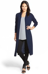 Nordstrom Open Front Cashmere Duster Cardigan Navy Medieval