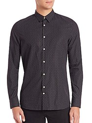 J. Lindeberg Dani Holiday Print Shirt Black