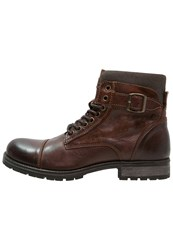Jack And Jones Jfwalbany Laceup Boots Brown Stone