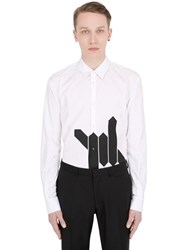 Dsquared Barbed Wire Printed Cotton Poplin Shirt