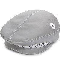 Thom Browne Shark Flat Cap Light Grey