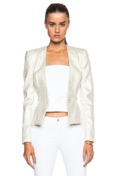 Sass And Bide Horn Of Plenty Blazer In White Metallics Checkered And Plaid