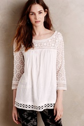 Meadow Rue Mantra Lace Tee Ivory