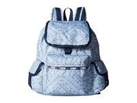 Le Sport Sac Voyager Backpack Bandana Lace Backpack Bags Blue