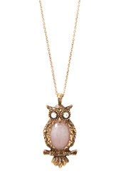 Forever 21 Faux Stone Owl Necklace