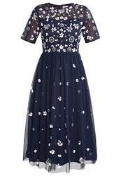 Lace And Beads Baby Cocktail Dress Party Dress Navy Dark Blue