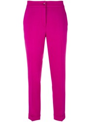 Etro Straight Trousers Pink Purple