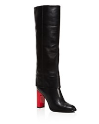 Opening Ceremony Stovepipe Block Heel Tall Boots Black