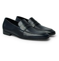 Paul Smith Glynn Leather Penny Loafers Navy