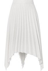 Acne Studios Ilsie Asymmetric Pleated Wool Blend Midi Skirt Off White