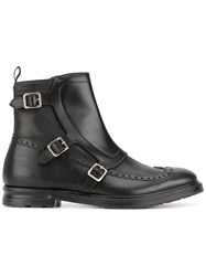 Alexander Mcqueen Buckled Boots Men Calf Leather Leather 42.5 Black