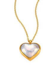 Gurhan Amulet Hue 11Mm White Mabe Pearl Heart And 18 24K Yellow Gold Pendant Necklace