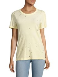 N Philanthropy Fox Distressed Tee Citron