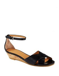 Marc By Marc Jacobs Open Toe Demi Wedge Sandals Black
