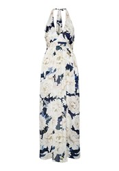 Hallhuber Floral Printed Silk Dress Multi Coloured