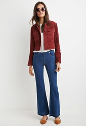 Forever 21 Raw Cut Flared Jeans Denim