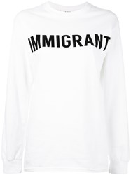 Ashish 'Immigrant' Sweatshirt Women Cotton M White
