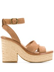 Ugg Australia Carine Wedge Sandals Brown