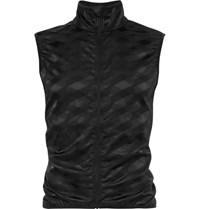 Cafe Du Cycliste Jacqueline Windproof Stretch Jacquard Cycling Gilet Black