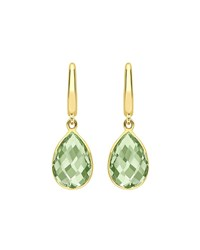 Kiki Mcdonough Classic Pear Drop Earrings In Green Amethyst And 18K Gold