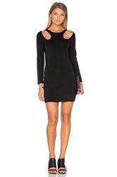 Endless Rose 3 4 Sleeve Bodycon Dress Black
