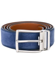 Santoni Classic Belt Men Suede 110 Blue