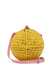 Sophie Anderson Ceina Woven Leather Cross Body Bag White Multi