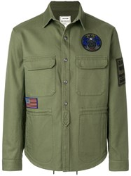 Zadig And Voltaire Logo Patch Jacket Green