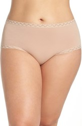Natori Plus Size Women's Bliss Hipster Panty Cafe