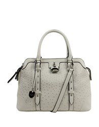 London Fog Lancaster Vegan Leather Triple Satchel White