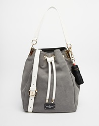 Pauls Boutique Paul's Boutique Hattie Bucket Crossbody Grey