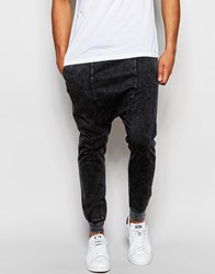 Pull And Bear Pullandbear Joggers In Acid Wash Grey