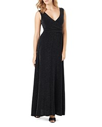 Phase Eight Beulah Metallic Sparkle Maxi Dress Black Silver