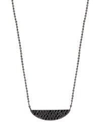 Lana Reckless 14K Black Gold Crescent Necklace With Black Diamonds Black Gold