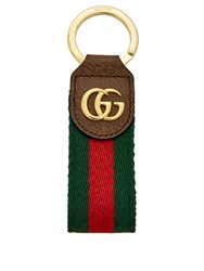 Gucci Ophidia Tricolour Leather Keyring Brown Multi