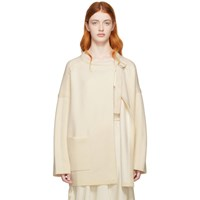 Chloe Off White Compact Knit Coat