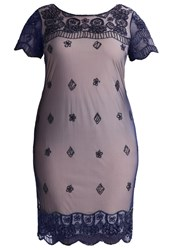 Frock And Frill Curve Cocktail Dress Party Dress Navy Dark Blue