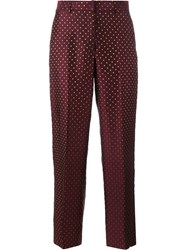 Dries Van Noten Pulley Polka Dot Embroidered Trousers