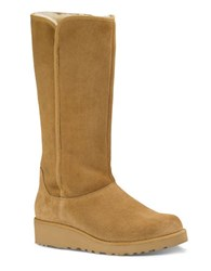 Ugg Kara Sheepskin And Suede Mid Calf Boots Brown